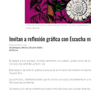 Invitan a reflexión gráfica con Escucha mi Voz