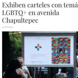 Exhiben carteles con temática LGBTQ+ en avenida Chapultepec