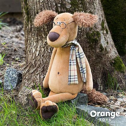 Пёс Шарик в очках 45 см.