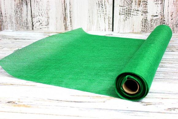 Лён (мешковина) искусственный, зеленый