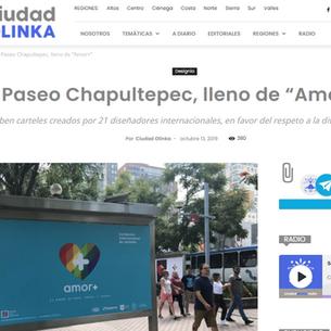 """Paseo Chapultepec, lleno de """"Amor+"""""""