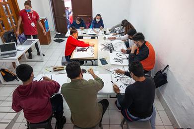 Taller Guiso Gráfico Museo de San Agustín