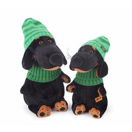 Ваксон в зеленой шапке и шарфе, 29 см.