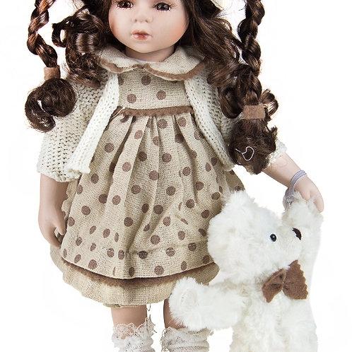 "Кукла ""Танечка"" с мишкой, 35 см. Remeco Collection"