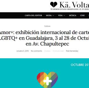 Amor+: exhibición internacional de carteles LGBTQ+ en Guadalajara