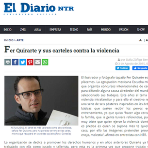 Fer Quirarte y sus carteles contra la violencia