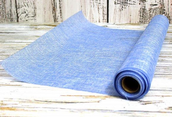 Лён (мешковина) искусственный, голубой
