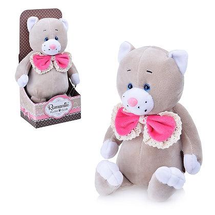 Романтичный Котик с Розовым Бантиком, 20 см