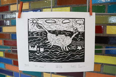 """""""El mar"""" por Saúl"""