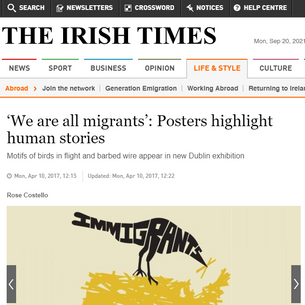 'We are all migrants': Posters highlight human stories