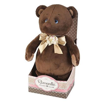Романтичный Медвежонок с Бежевым Бантиком, 20 см
