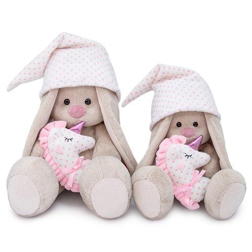 Зайка Ми с розовой подушкой - единорогом (малый)