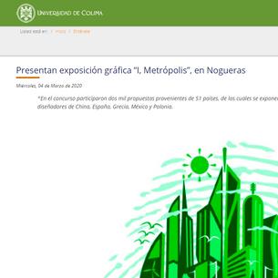 """Presentan exposición gráfica """"I, Metrópolis"""", en Nogueras"""