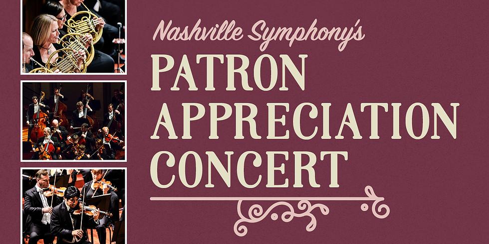 Patron Appreciation Concert