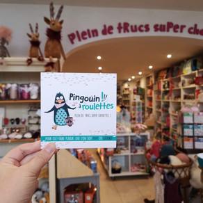 Pingouin à roulettes : la boutique des trucs super chouettes !!
