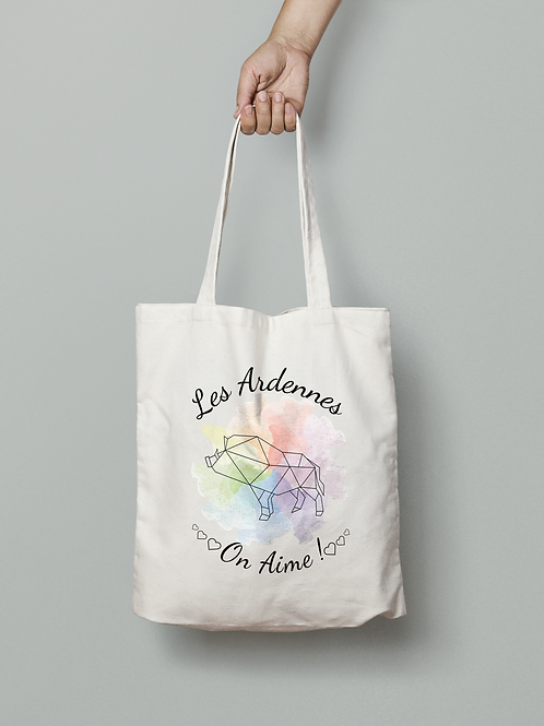 "Tote bag ""Les Ardennes on aime"" Coeur"