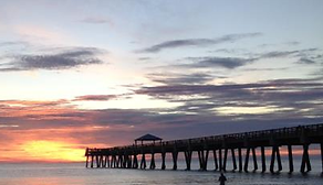 Juno Beach Pier at sunrise, Juno Beach , Florida