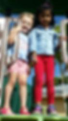 CITG Preschool 2 girls on slide
