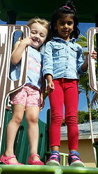 CITG Preschool 2 girls on slide