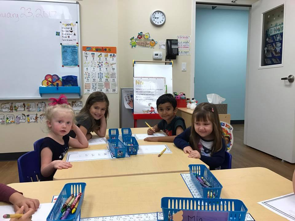 CITG Preschool group at table
