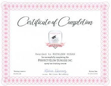 Perfect Glow Certificate of Completion