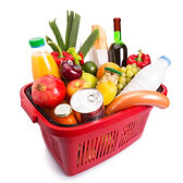 Photo of full shopping basket