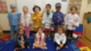 CITG Preschool group of kids for dressup day