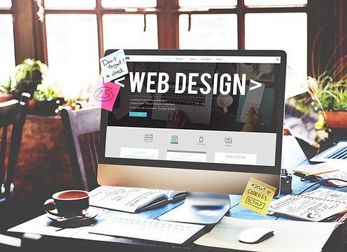 Computer screen showing Web Design