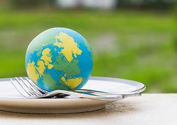 bigstock-Globe-Model-Placed-On-Plate-Wi-