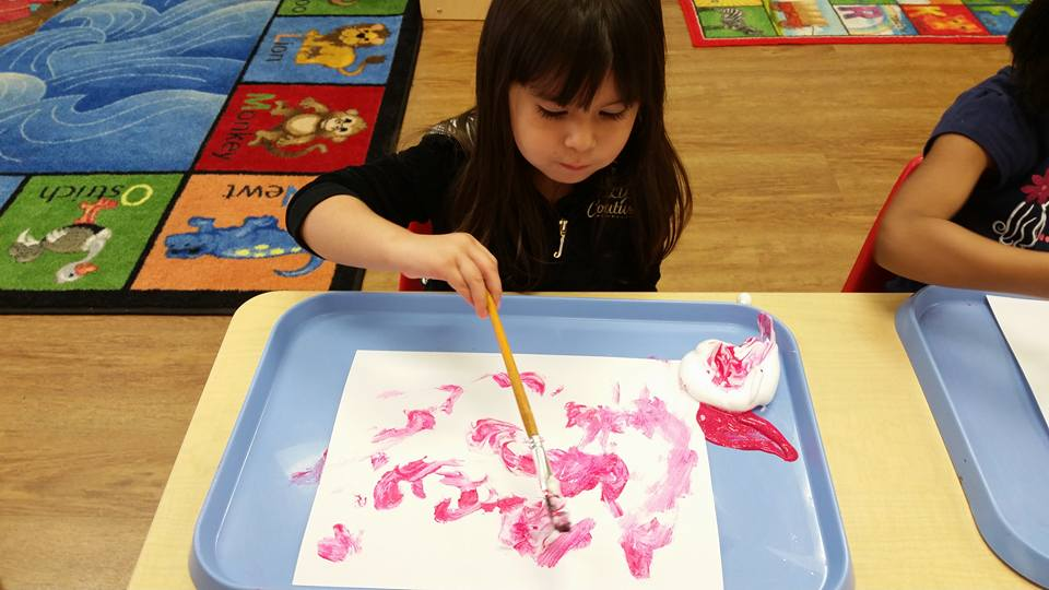 CITG Preschool girl painting