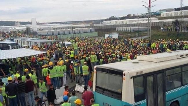 600συλλήψεις εργατών στην Κωνσταντινούπολη