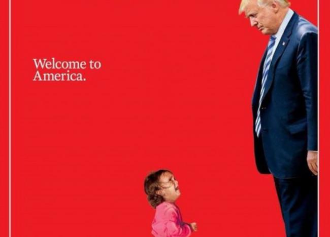 O Τραμπ«καλωσορίζει» στην Αμερικήπροσφυγόπουλο που κλαίει, επειδή το χώρισε από την μητέρα του...
