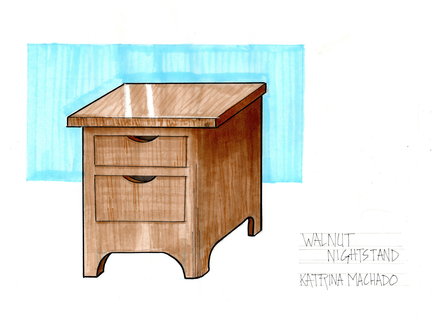 Sketches: Nightstand