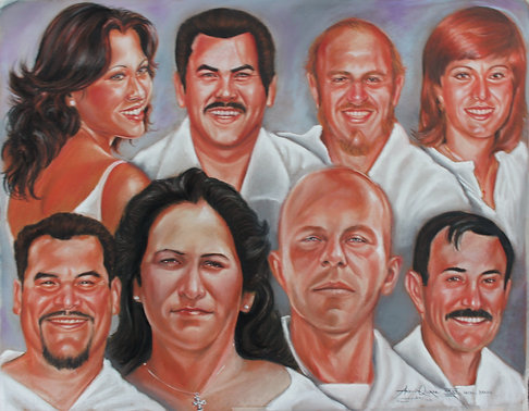 Commission Bigger Family or Group Portrait Oil on Canvas