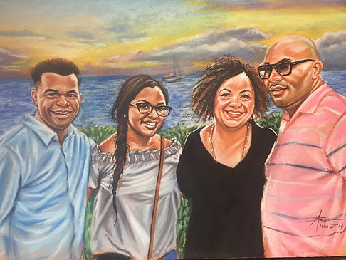 Commission Family or Group Portrait Oil on Canvas