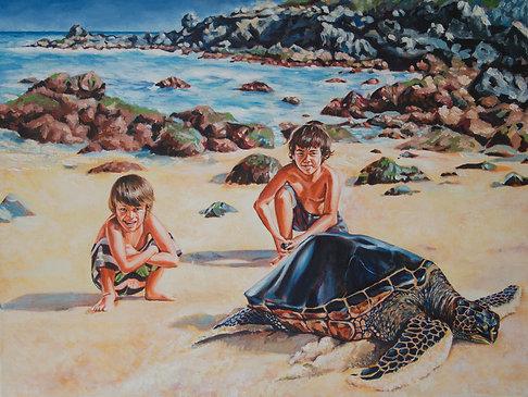 Commission 3 pets or people Portrait Oil on Canvas