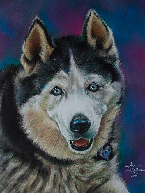 Color Pastel on Paper Commission Single Portrait