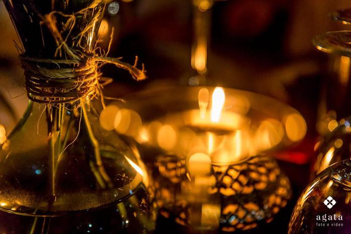 Decoração a luz de velas