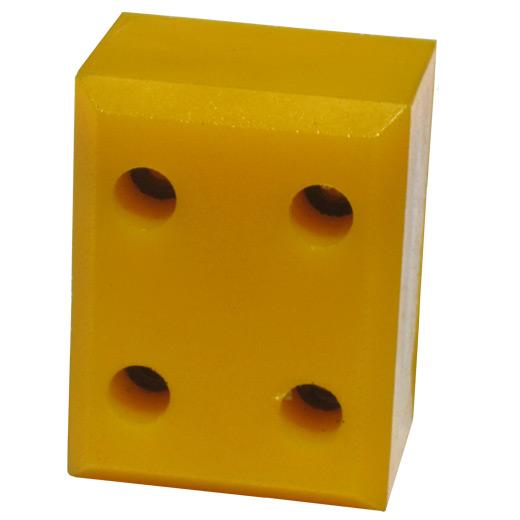 Polyurethane metal block