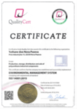 Yuthane ISO 14001 certificate