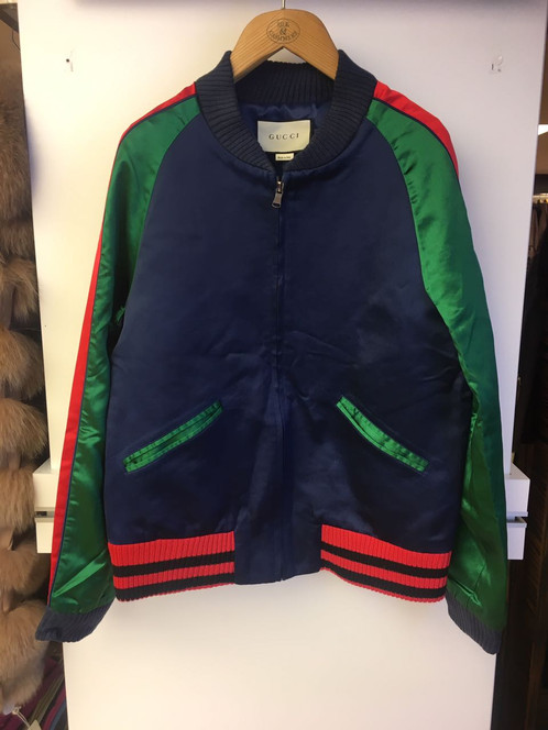47492d40 Gucci Jersey Bomber Jacket With Panther