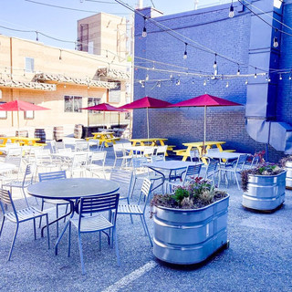 Our extended patio is back!