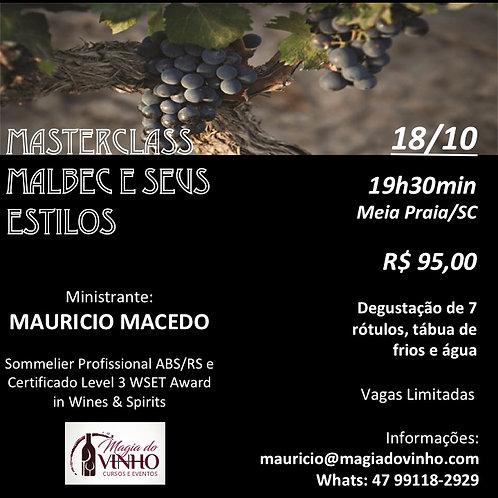 Materclass: Malbec e seus Estilos