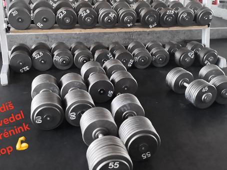 Tlaky prsa obouruč od 12,5 kg do 60 kg