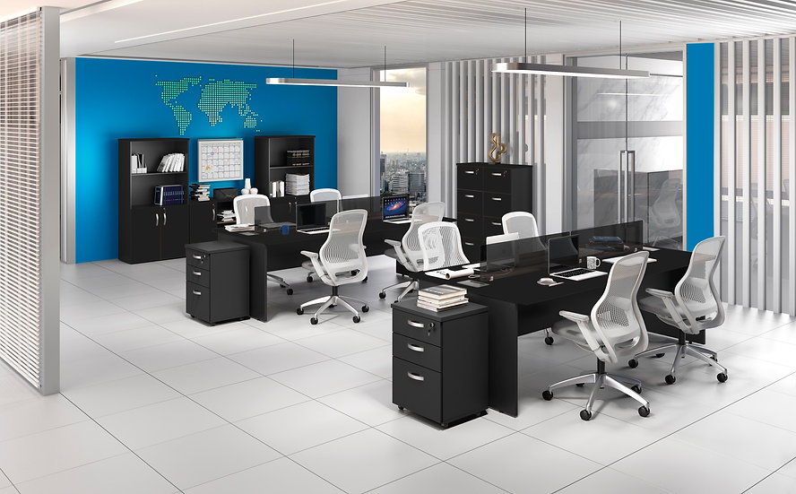 Mesa para Escritório - Plataforma 25mm preto Maranello