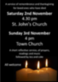 Remembrance service for departed loved o