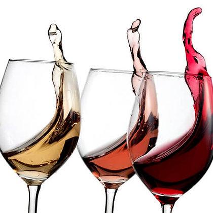 Proeverijbox van 3 flessen wijn met aromawiel en online uitleg