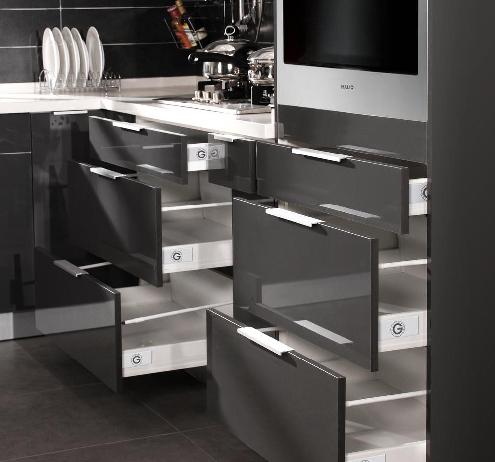 Glossy Grey - Base Cabinet
