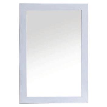 White Framed Mirrror