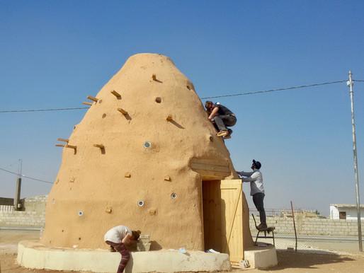 Solar Bottle Lights for a Classroom in Zaatari Village